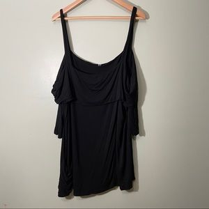 Cold Shoulder Strappy Blouse with Pockets!